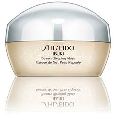 Women's Shiseido 'Ibuki' Beauty Sleeping Mask (1 035 UAH) ❤ liked on Polyvore featuring beauty products, skincare, face care, face masks, no color, gel mask, hydrating face mask, facial mask, gel face mask and shiseido