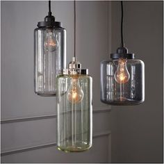 glass jar pendent lights