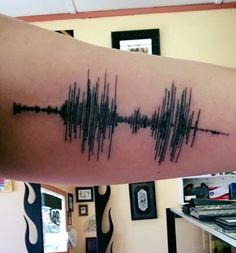 Memorial sound wave tattoo for my love ❤️❤️
