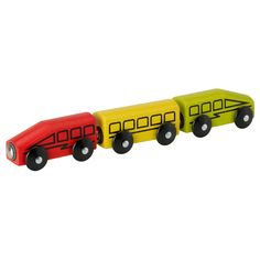 IKEA - LILLABO, 3-piece train set,  ,  , , The magnets make the cars easy to join.Can be used with most other railway systems on the market.