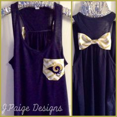 St. Louis Rams Tank Top J.Paige Designs To Order- email jpaigedesigns13@gmail.com