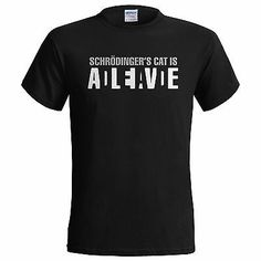 #Schrodingers cat is alive big bang #theory sheldon mens t shirt  #small - 5xl,  View more on the LINK: http://www.zeppy.io/product/gb/2/251535542515/