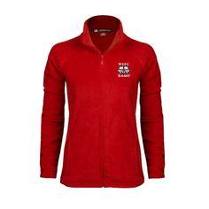 Winston-Salem - Winston-Salem State University Winston Salem Ladies Fleece  Full Zip Red 6dbee8833