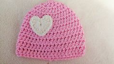 Is preemie too small...Pink Preemie Hat Crochet Preemie Heart Hat by TheFlyButterFactory