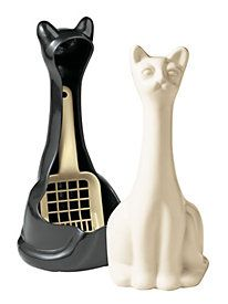 I need this Scoopy Cat Litter Scoop & Holder although my cat Lux might get jealous of another black cat in the house.