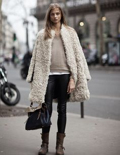 fake fur & leather