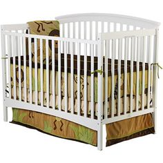 Dream on Me - Eden 4-in-1 Fixed-Side Convertible Crib (Choose Your Finish)