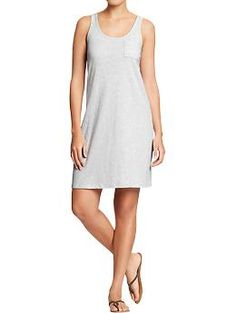 Women's Jersey Tank Dresses   Old Navy with belt