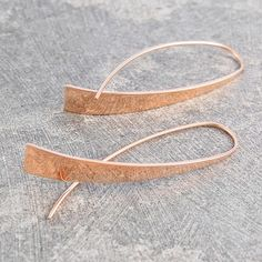 Elliptical Rose Gold Drop Earrings - These unique sterling Elliptical Rose Gold Drop Earrings are show stopper material! These statement accessories are worthy of any collection and can be used everyday. #Otisjaxon #Jewellery #Curl #Earrings
