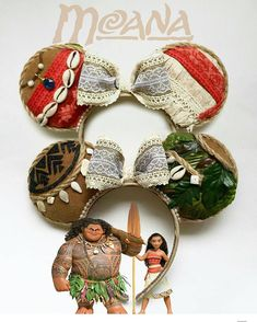 The Moana ears, with the heart of Te'Fiti at the centre of the bow. Die Moana-Ohren, mit dem Herzen von Te'Fiti in der Mitte des Bogens. Disney Diy, Deco Disney, Diy Disney Ears, Disney Mickey Ears, Disney Bows, Disney Crafts, Cute Disney, Disney Outfits, Disney 2017