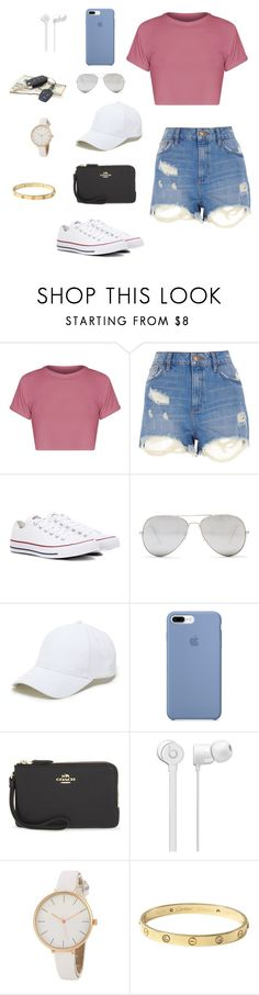 """Untitled #155"" by gabriellaallen on Polyvore featuring River Island, Converse, Sunny Rebel, Sole Society, Coach and Cartier"