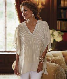 Midnight Velvet Southwest Surplice Top blouse shirt L XL 1X 2X turquoise plus