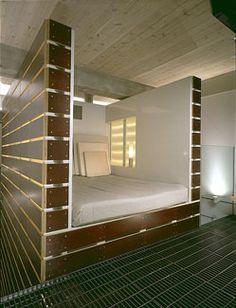 the mezzanine floor of renst lofts in des moines iowa is made from mcnichols bar grate mezzanine floor