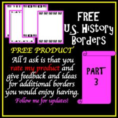 US History Part 3 Borders FREE WWI, 1920s, WWII, Cold War