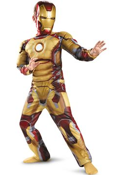 Marvel Iron Man Mark 42 Muscle Light Up Child Costume #Halloween #superheroes #ironman #marvel