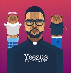 """Kanye West Community Contest: Winner fattah setiawan """"The title of this artwork is Puppet, and I think it shows what Kanye wants to deliver through this album. My concept is to capture on one hand the rage and anger of Kanye's music, but on the other the simplification of sound and instrumentation, the highlighting of vocals and lyrics."""""""
