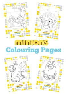 A Thrifty Mum: Free Minions colouring book. Get the kids all Minion mad with this super Minions colour printable