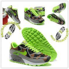 buy online c8936 c115d Tendance   Nike Chaussure Sport Air Max 90 2014 Femme Beige Vert 013 Air Max