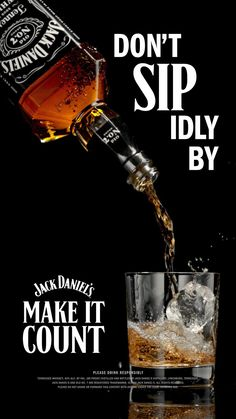 In our experience, the only good thing that comes from waiting is whiskey. #MakeItCount #JackDaniels Bar Drinks, Yummy Drinks, Alcoholic Drinks, Cocktails, Distillery, Brewery, Built In Wine Cooler, Jack Daniel's Tennessee Whiskey, Dont Touch My Phone Wallpapers