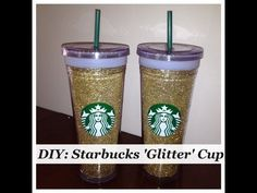 I'll totally be making DIY Starbucks Glitter Cups for Christmas presents this year!