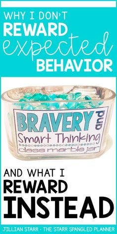My Favorite Classroom Management tool! This is our class marble jar. Find out how I use this powerful management strategy to build community without ever rewarding expected behavior! A perfect elementary classroom management strategy for first grade, 2nd grade, 3rd grade and 4th grade classrooms.