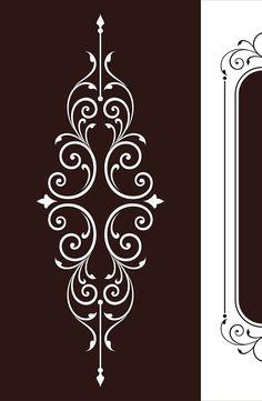 Border Design, Line Design, Pattern Design, Stencils, Stencil Painting, Stencil Patterns, Stencil Designs, Glass Design, Door Design