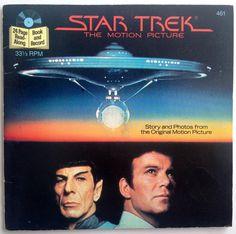 Star Trek the Motion Picture  - 7' Vinyl Record / 24 Page Book, Buena Vista Records - 461, Children's Story, 1982, Original Pressing