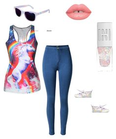 """""""Unicorns for life"""" by shelbsinstyle ❤ liked on Polyvore featuring Vans and Lime Crime"""