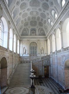 Palazzo Reale ,Naples, southern Italy. It is one of the four residences used by the Bourbon Kings of Naples during their rule of the Kingdom of Two Sicilies (1730-1860)