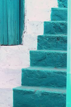 ✰ #turquoise #stairs