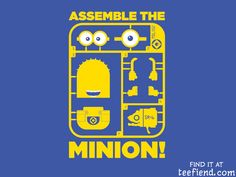 """""""Assemble The Minion!"""" by Sublevel Studios is only $12 today at Limiteed http://www.teefiend.com/5621/assemble-the-minion/"""