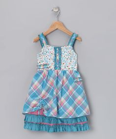 overall jumper with a tucked hem.  great cute.