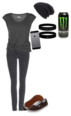 """""""Untitled #2566"""" by slytherinprincess2013 ❤ liked on Polyvore featuring Wallis, Lija, Leith and Vans"""
