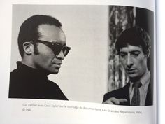 """Photo of Cecil Taylor and Luc Ferrari, 1966, from """"Musiques dans les spasmes"""" -- Luc's selected writings."""