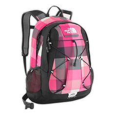 """North Face Women's Jester Backpack...I want this in """"Teaberry Pink Ripstop""""...I like this plaid one too...but I really want the other bright pink one for college! :)"""