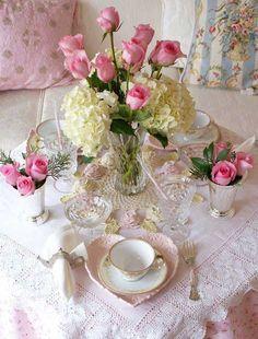 ♔ Shabby chic tea