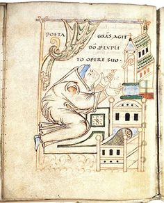 Portrait of Milo of Saint-Amand De sobrietate Saint Omer, France; early 11th century Universiteitsbibliotheek, Leiden, BPL 190