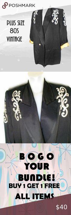 I just added this listing on Poshmark: Plus Size Vintage Dressy Black Blazer. #shopmycloset #poshmark #fashion #shopping #style #forsale #Vintage #Jackets & Blazers Rocker Look, 80s Fashion, Fashion Trends, 80s Style, Plus Size Vintage, Colored Blazer, Shoulder Pads, Plus Size Women, Blazer Jacket