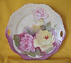 Decorative Arts Chic Vintage Hp Majolica Leaf Porcelain Plate Candy Dish Shabby Unique Colors Antiques