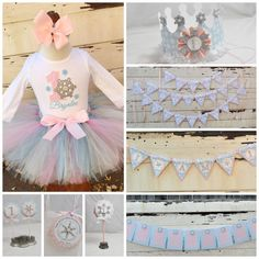 Winter Onederland Girl Complete Party Package 1st Birthday
