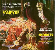 Lord Ruthven, most popular 19th century vampire, first appeared in the 1819 short story The Vampyre by John Polidori. This adaptation is for The Vampire tales (1973), with the cover by Esteban Maroto.