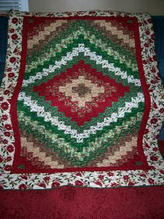 """I made this """"quick trip"""" quilt for Festival of Trees, and charity auction to benefit Primary Children's Hospital."""