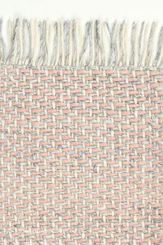 NEW: Craft Pink Rug, (texture close up) a flat-woven 100% wool designer rug from Brink & Campman, in shades of pink, cream & light grey (3 sizes) https://www.therugswarehouse.co.uk/pink-rugs/atelier-craft-pink-rug.html