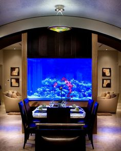 Amazing Ideas With Interior Aquariums Check out these amazing ideas with aquarium.Check out these amazing ideas with aquarium.