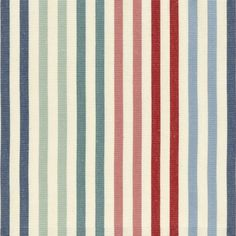 Composition 100 Cotton Width Pattern Repeat Vertical Nil Horizontal 22 Made in UK Usage Upholstery Grade General Domestic Martindale Rubs Color Stripes, Fabric Textures, Fabric Patterns, Decoupage, Color Quotes, Red Pattern, Stripe Pattern, Nautical Stripes, Yarns