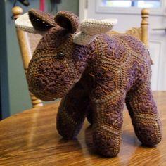 Mork the African flower moose. #lineandloops #crochet #amigurumi…