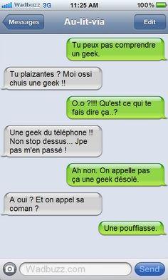 Geek ou pouf ?