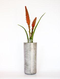 Handmade Large Concrete  glass vase urban housewares by zinandbert, $140.00