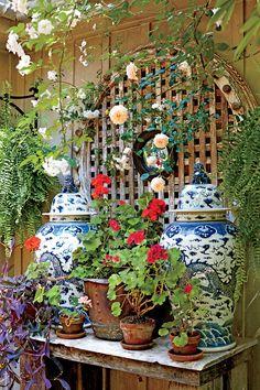The Ultimate Entertaining Garden: Flower Pot Display