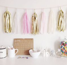 The Pink Diary Tassel Garland by Studio Mucci